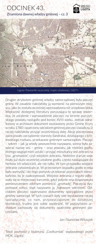 Ligota i Panewniki na pruskiej mapie sztabowej z 1827 r.